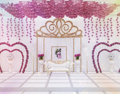 first time wedding stage