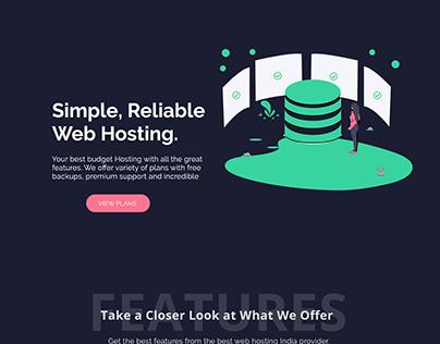 Web Hosting Company Design