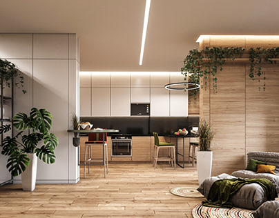 A Cozy Ecostyle Apartment