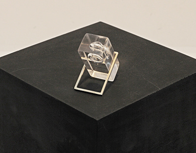 Ring from silver and Plexiglass