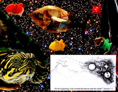 Jesus UFO Cult Collage Series