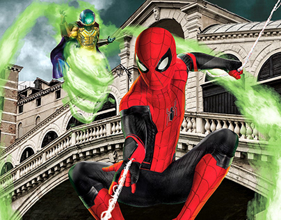Spiderman Far From Home - Film Poster Design/Remake