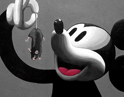 Mickey eats rat