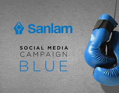 Sanlam Investments - BLUE social campaign design