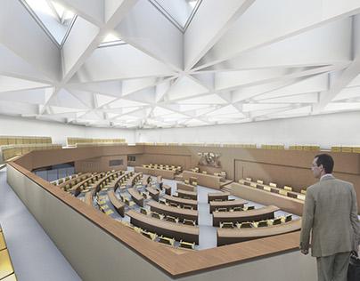 Plenary Hall of Parlament, Stuttgart (Germany)