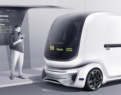 Tesla Pod - Public Module - Design Master's thesis