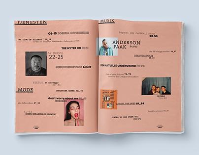 SORT MÆLK - editorial redesign