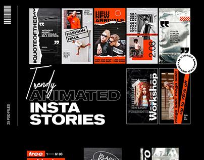 Social media Instagram stories