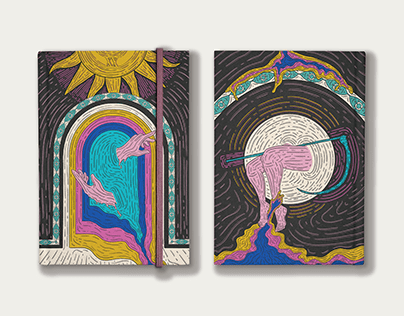 Tarot Inspired // Notebook Design