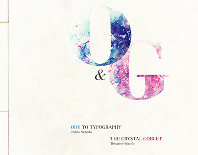 ODE TO TYPOGRAPHY & THE CRYSTAL GOBLET