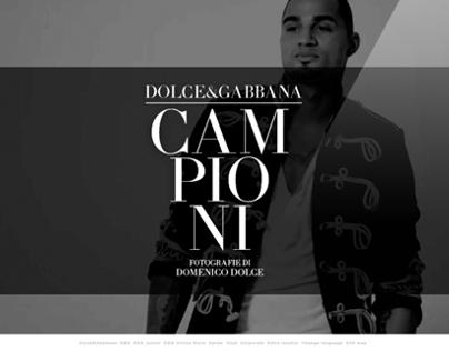 WEBSITE / CAMPIONI FOR DOLCE&GABBANA
