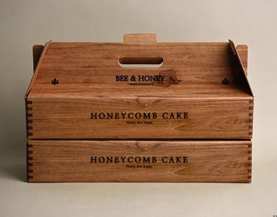 [BEE & HONEY] honeycomb cake packagedesign