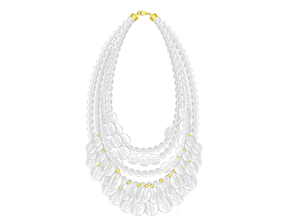 "Lucite Bib ""Aloha"" Necklace"