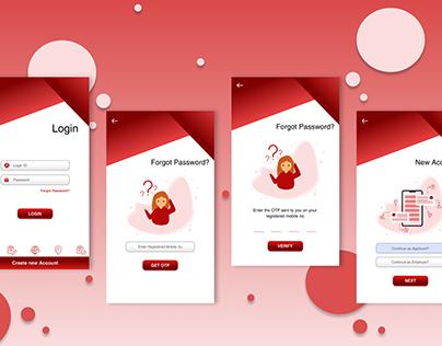 Mobile UI Design    Placement Application