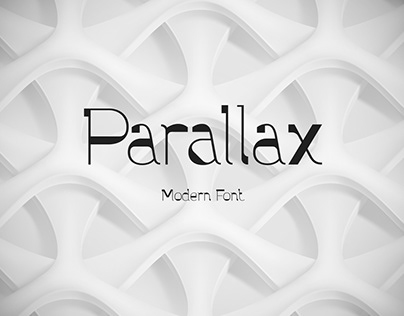 Parallax font and graphics