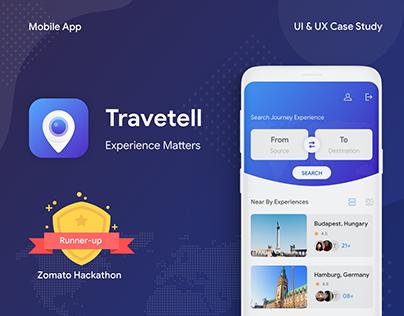 Travetell App UI & UX Cash Study | Zomato Hackathon 2nd