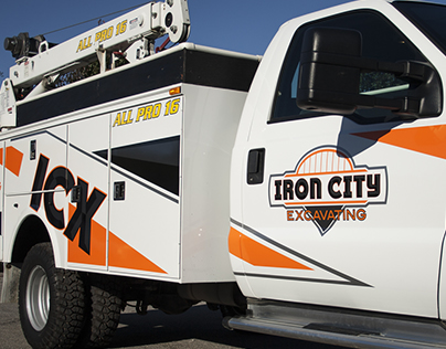 Iron City Excavating Truck Lettering