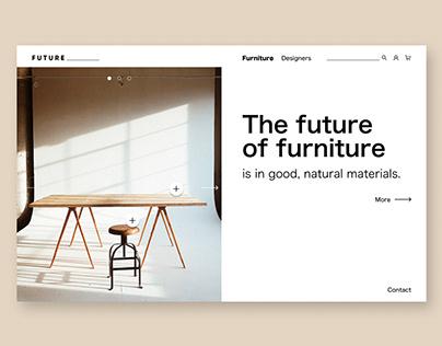 Landing Page Design/ Furniture