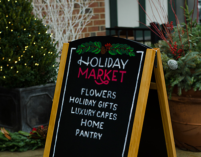 Holiday Market Hand Lettered Signage Commission
