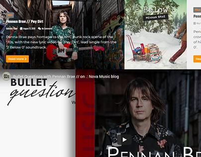 Artist coverage // Pennan Brae on Nova Music blog