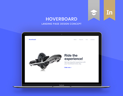 Hoverboard | landing page concept