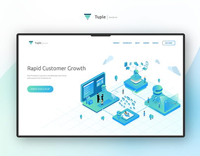 Tuple.tech Website Design & illustration