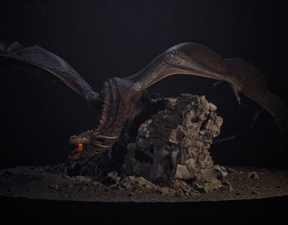 UE4 - Dragon Turntable & Animation Timelapse