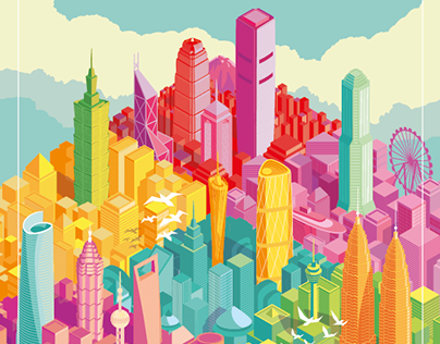 Skyline Illustrations DragonAir ( Cathay Pacific )