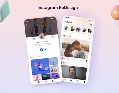 Ui instagram ReDesign