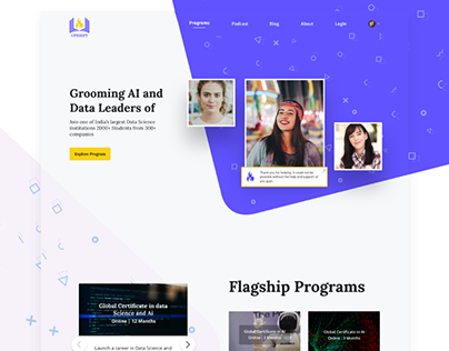 Landing Page For Online Courses Website