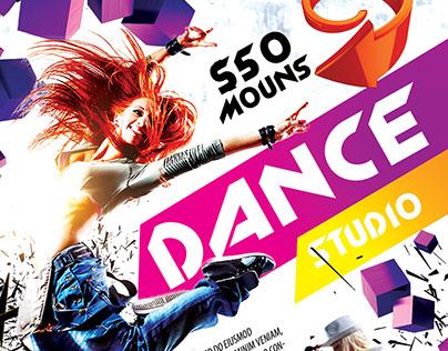 Dance Studio FREE PSD Flyer Template