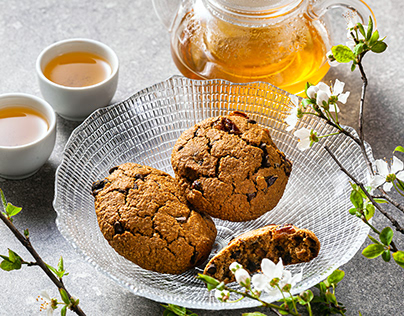 homemade oatmeal cookies on a table