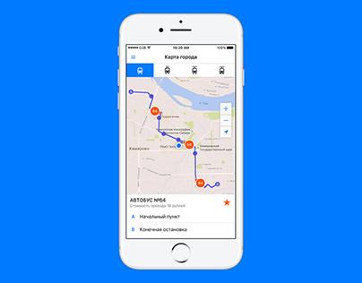 Go2Bus iOS app design