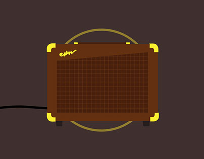 Guitar Amplifier Motion Infographic
