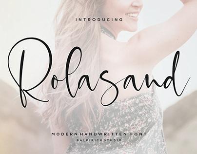 Rolasand Modern Handwritten Font