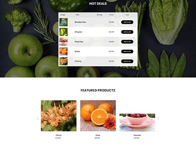 emommerce website(vegetable collection)