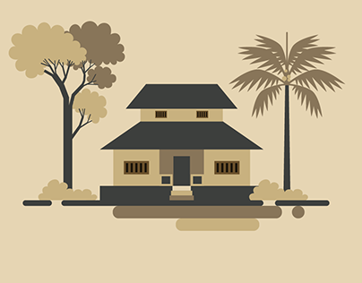 Traditional Indian Home | Vector Art