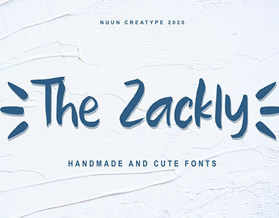 Free Font || The Zackly Cute FOnts