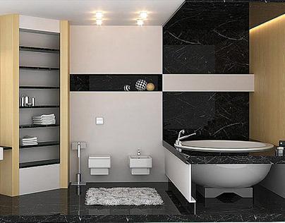 Minimalism bathroom | Interior design & 3D