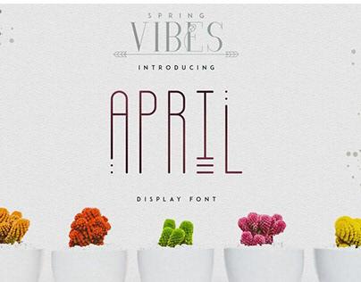 Free Font: April