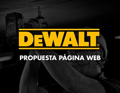 Propuesta Página Web DEWALT