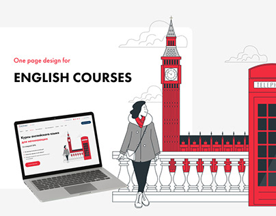English courses one-page redesign