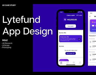 Lytefund Mobile App-Crypto loans UX Case Study