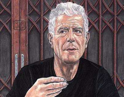 Portrait Anthony Bourdain