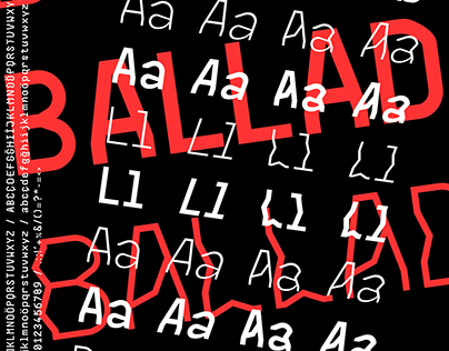 Ballad Font // Typeface Design & Poster