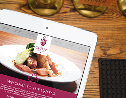 The Queens at Belbroughton branding and website