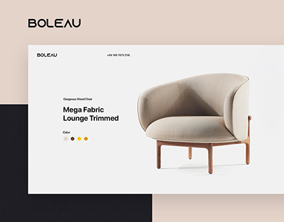 Boleau - Furniture Website Design