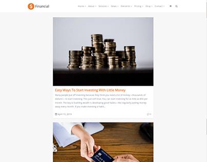 Blog Center Page - Financial WordPress Theme