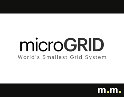 2018 / microGRID - World's Smallest Grid System