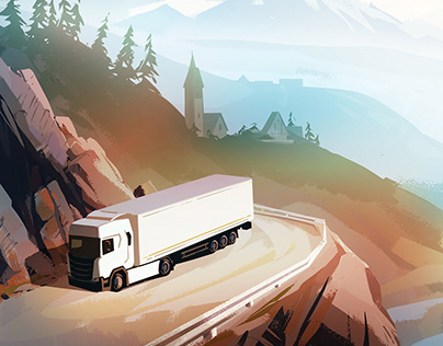 Illustrations for logistic company